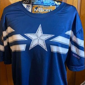 Captain America shirt blue/White with a star front